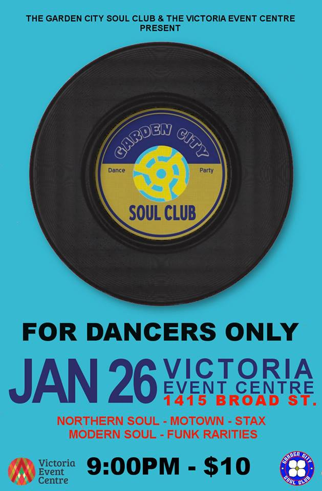 Garden City Soul Club – Victoria Event Centre