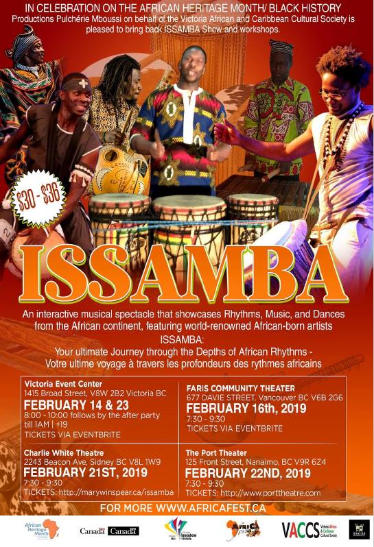 Issamba: Depths of African Rythms – Victoria Event Centre
